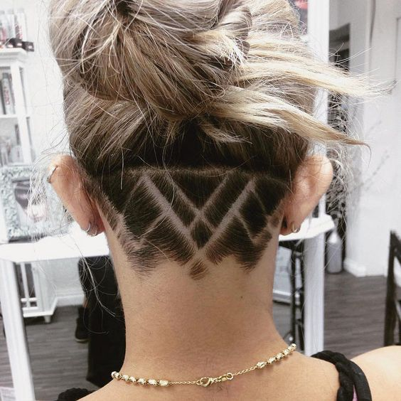 AMAZING COLORFUL UNDER CUT HAIR STYLES FOR WOMEN 2