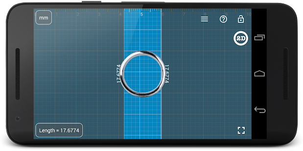 Millimeter Pro ruler on screen- screenshot thumbnail