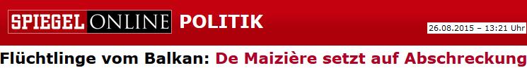 Flüchtlinge vom Balkan: De Maizière setzt auf Abschreckung