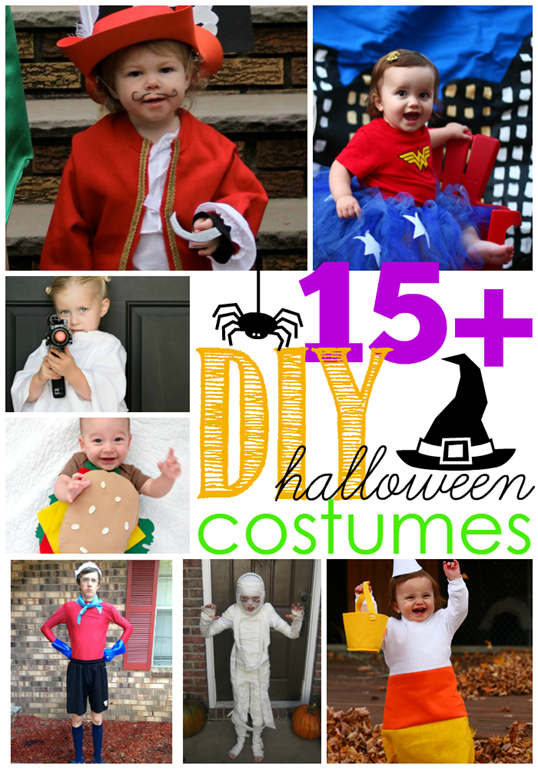 15  DIY Halloween Costumes at GingerSnapCrafts.com #linkparty #features