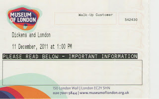 """Билет на выставку """"Диккенс и Лондон"""""""