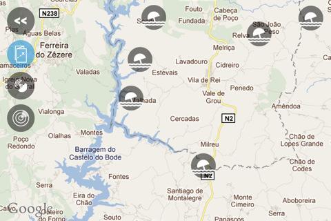 mapa das praias fluviais em portugal Apps do iPhone: iPraias Fluviais mapa das praias fluviais em portugal