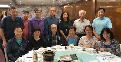 伍德賢訪港,10月21日跟同學在潮庭聚會伍主教問:常常來此聚會,是否基社同學都是朝廷大臣?