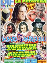 flyer lucha libre aaa colima