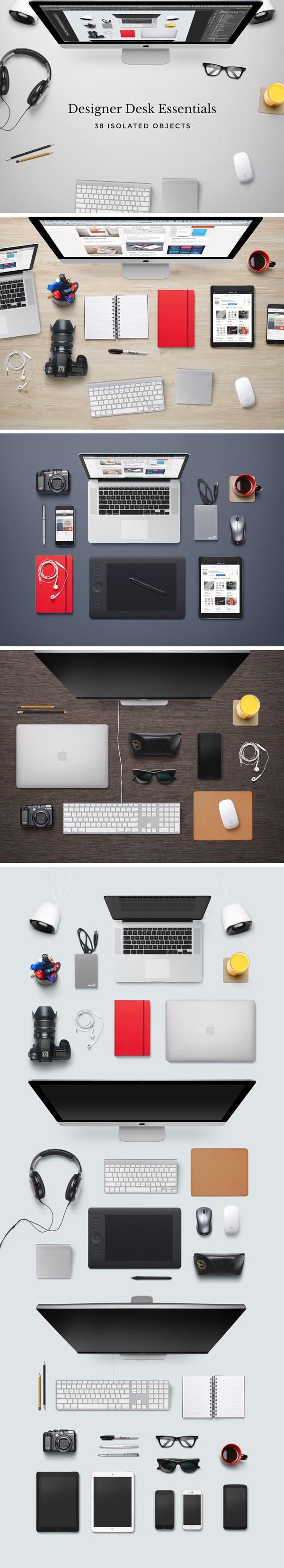 Designer Desk Essentials Mockup