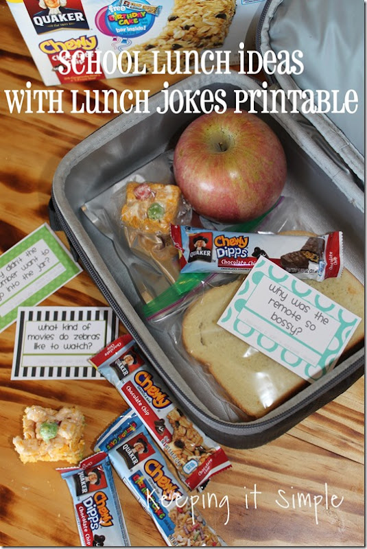 #ad Back-to-school-lunch-ideas-with-school-jokes-printable #QuakerTime