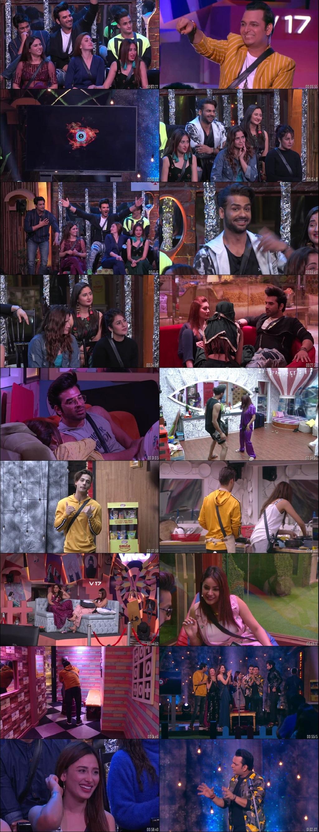 Screenshots Of Hindi Show Bigg Boss 13 10th January 2020 Episode 102 300MB 480P HD