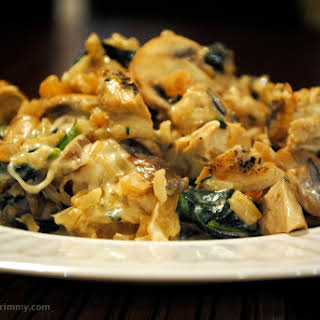 Easy Creamy Chicken and Brown Rice Casserole.