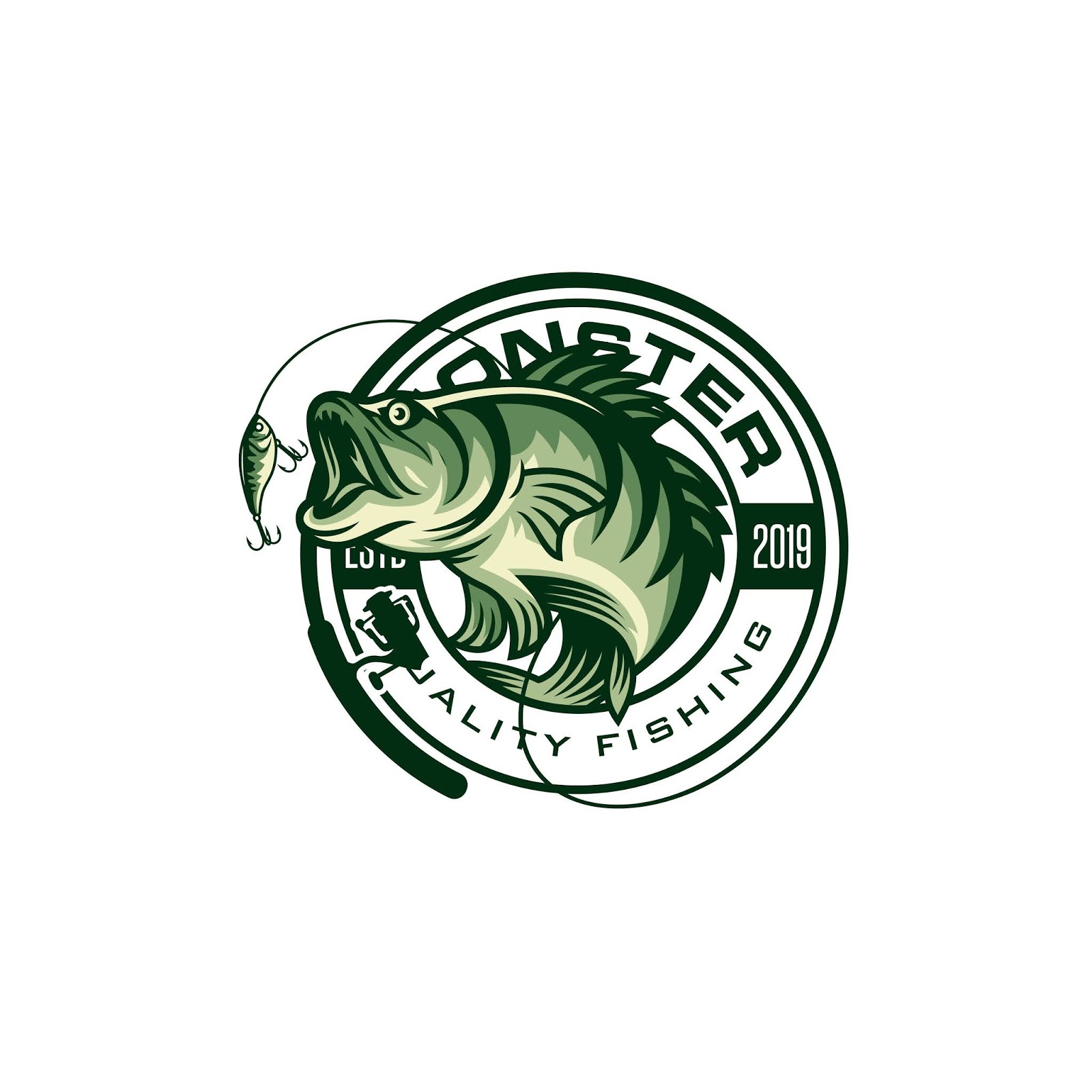 Vintage Fishing Logo Free Download Vector CDR, AI, EPS and PNG Formats