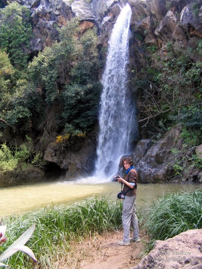 Большой водопад Сар. Экскурсия в Голаны. Гид Светлана Фиалкова.