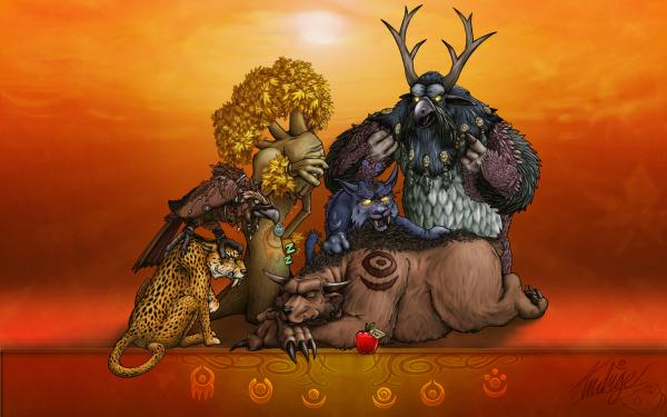Druids Of Azeroth By Triggerman, Celtic And Druids
