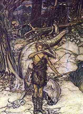 Siegfried Tastes The Dragons Blood, Asatru Gods And Heroes