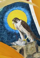 der Falke unter der Sonne