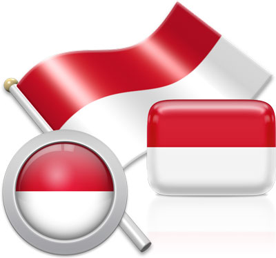 Indonesian flag icons pictures collection