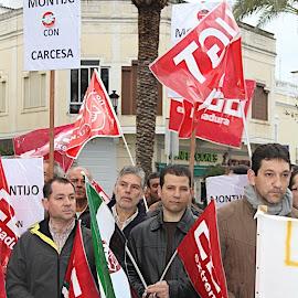 Concentración trabajadores Carcesa Montijo