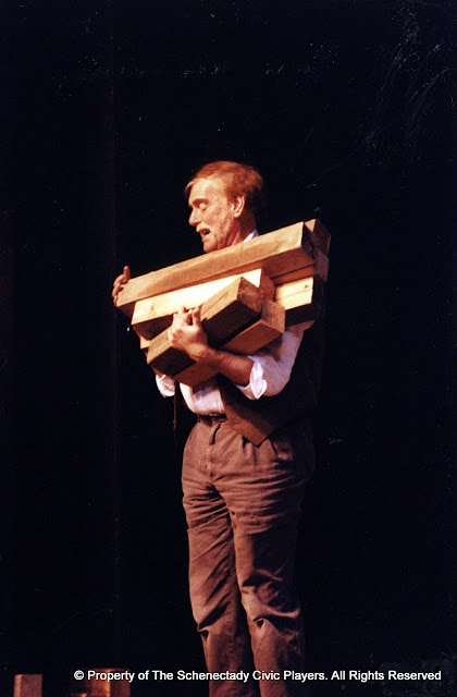 Bob Laurilliard in LOOK HOMEWARD, ANGEL (R) - March 1994.  Property of The Schenectady Civic Players Theater Archive.