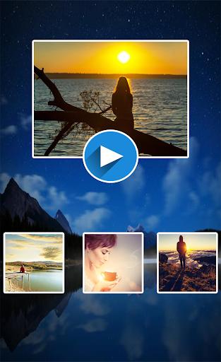 曲と写真のビデオエディタ