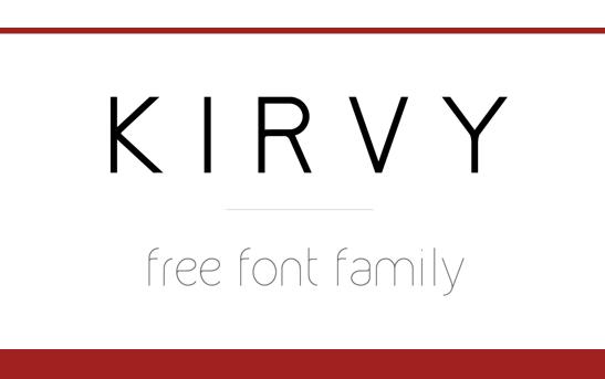 KIRVY Free Fonts