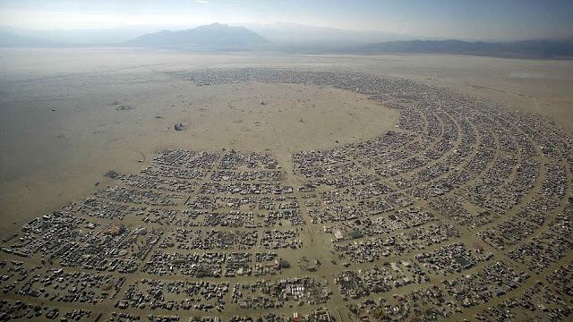 Burning Man desde Arriba