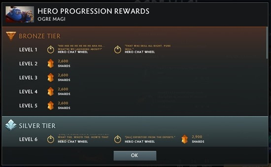 Hero Progress Rewards