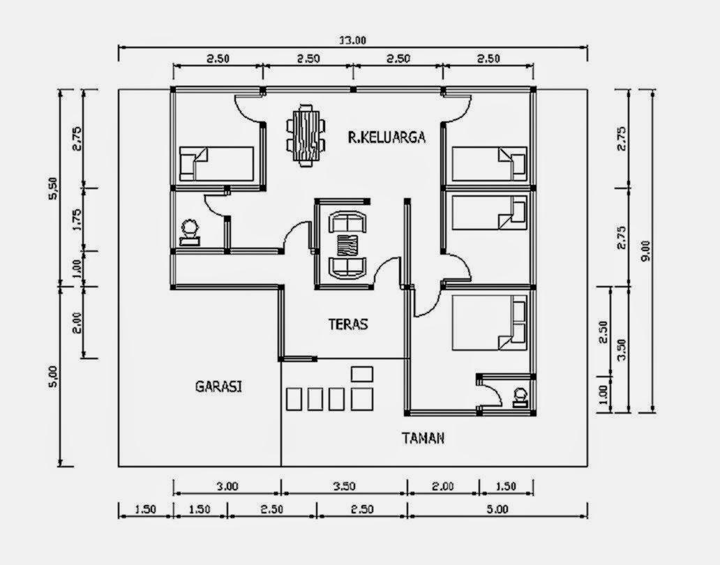Image Result For Denah Rumah Type Unik