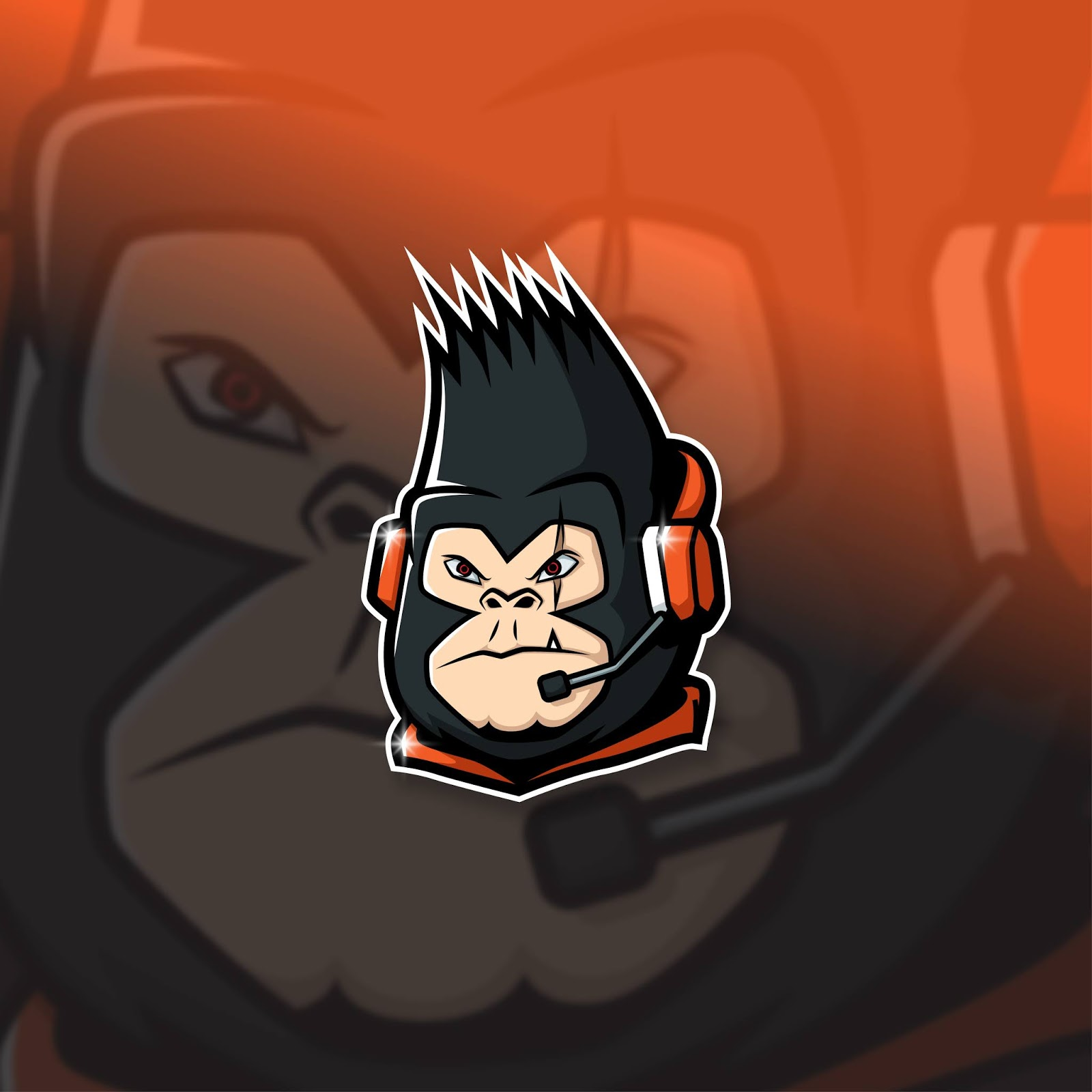 Esports Mascot Logo Team Leader Kong Squad Free Download Vector CDR, AI, EPS and PNG Formats