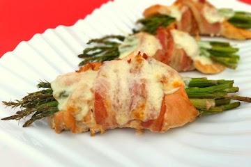Asparagus Chicken Wraps Recipe