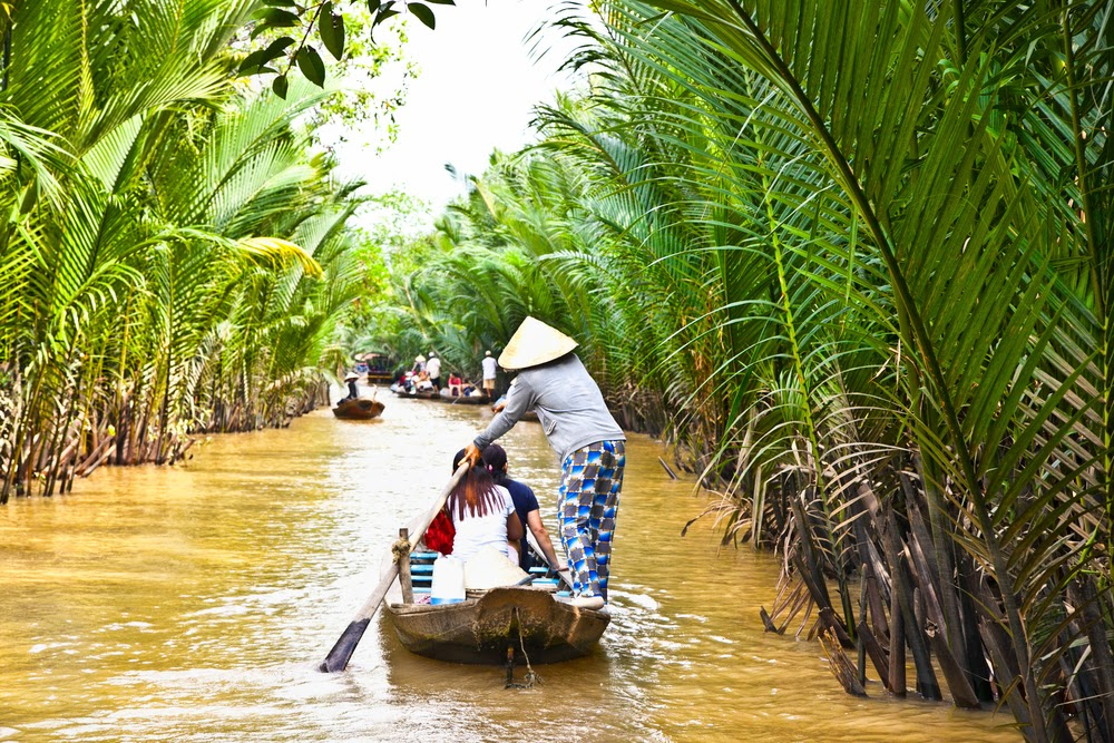 fruit orchards of Ben Tre province, Mekong Delta, Vietnam