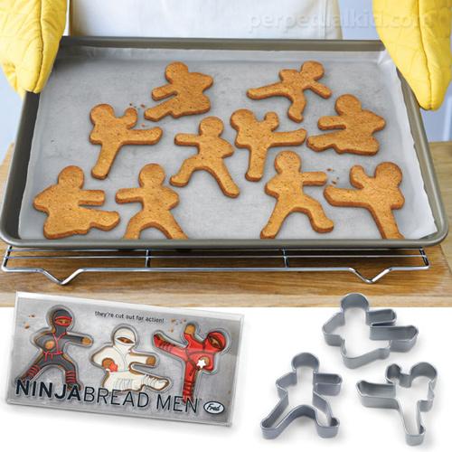 Biscoitos em forma de ninjas