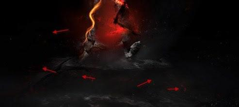 beberapa api yang terbang disekitar api