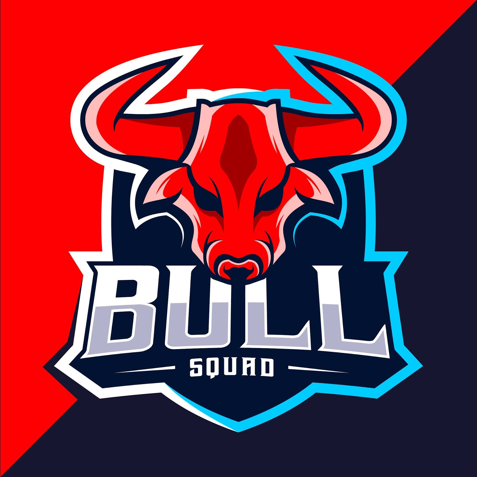 Bull Mascot Esport Logo Free Download Vector CDR, AI, EPS and PNG Formats