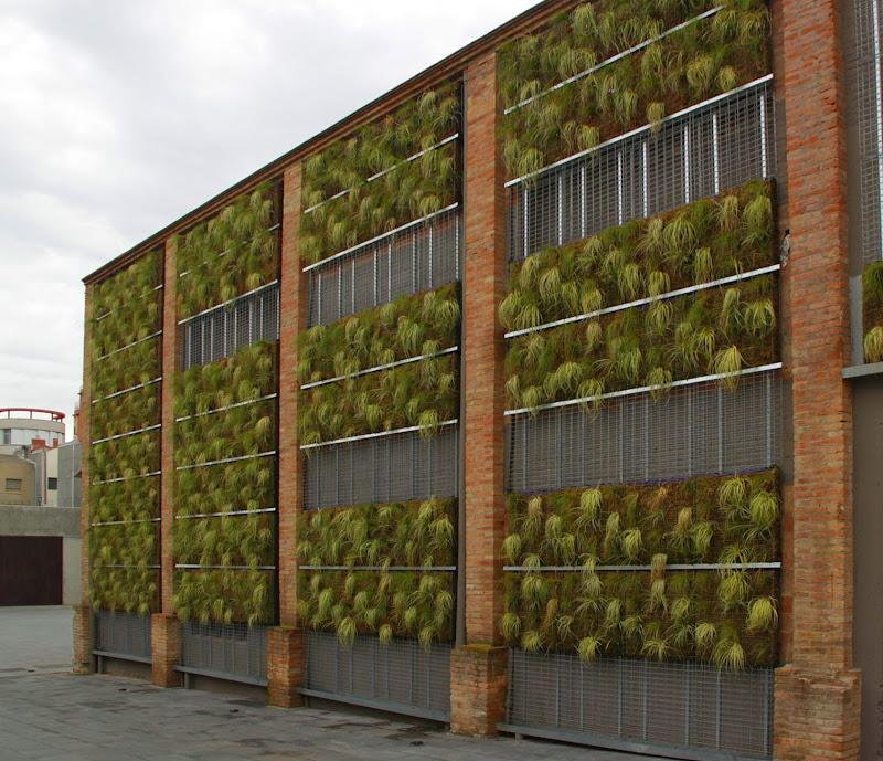 Fachada oeste jardín vertical Barcelona