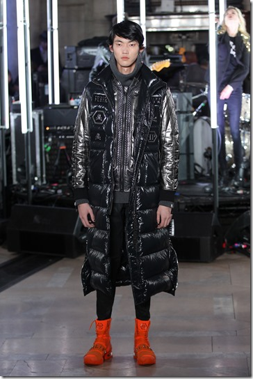 NEW YORK, NY - FEBRUARY 13:  A model walks the runway wearing look #54 for the Philipp Plein Fall/Winter 2017/2018 Women's And Men's Fashion Show at The New York Public Library on February 13, 2017 in New York City.  (Photo by Thomas Concordia/Getty Images for Philipp Plein)