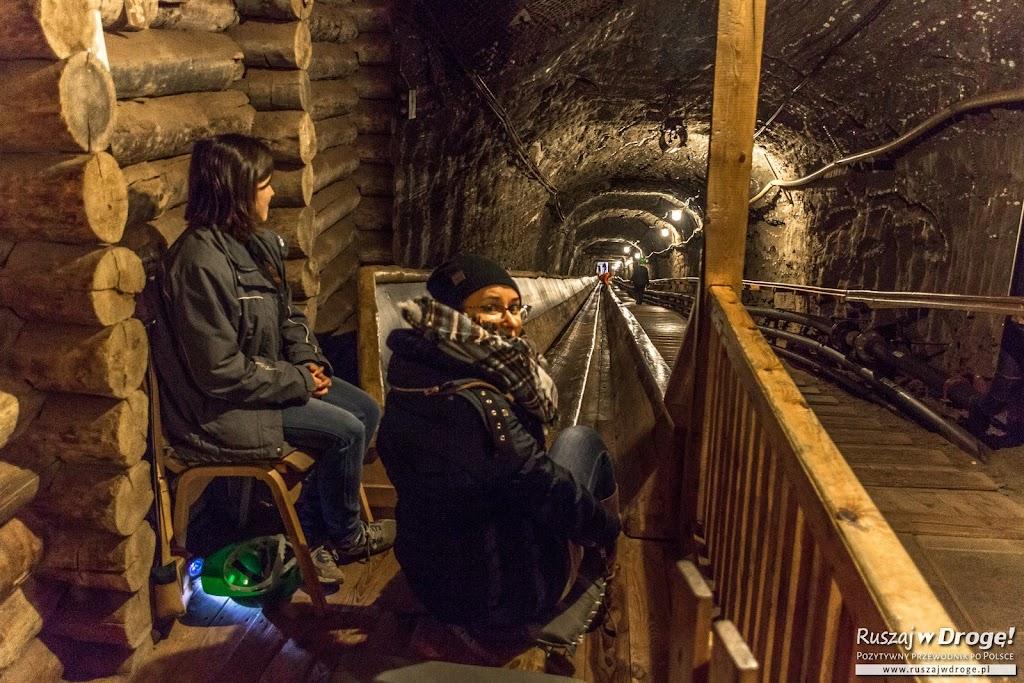 Podziemna zjeżdżalnia w Kopalni Soli w Bochni