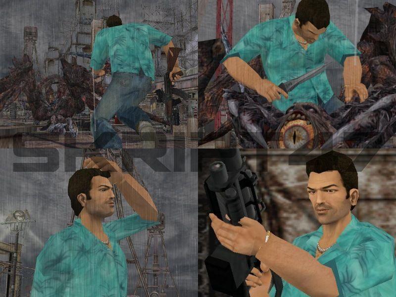 Tommy Vercetti in Resident Evil 4