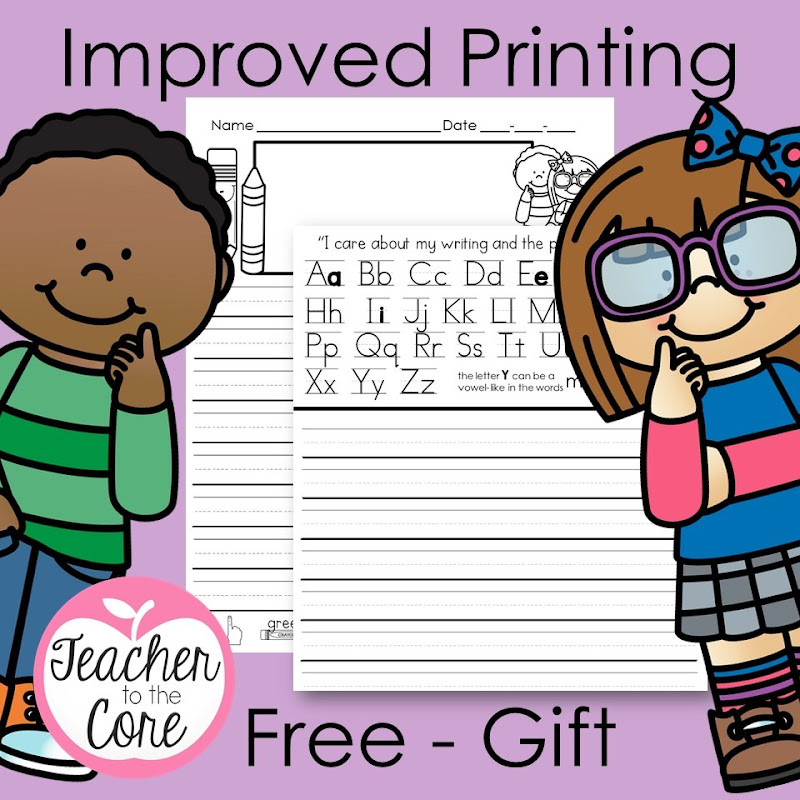 Get better printing fast with this paper gifted to you from Katie Knight at Teacher to the Core