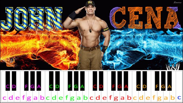 My Time is Now (John Cena Theme) ~ Piano Letter Notes