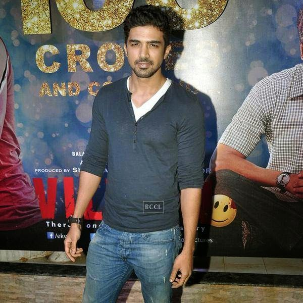 Saqib Saleem during the success party of Bollywood movie 'Ek Villain', held at Ekta Kapoor's residence on July 15, 2014.(Pic: Viral Bhayani)