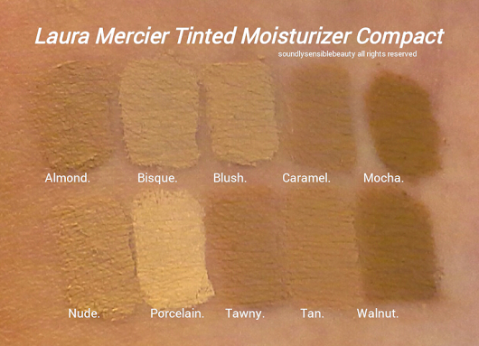 Laura Mercier Tinted Moisturizer Compact; Review & Swatches of Shades