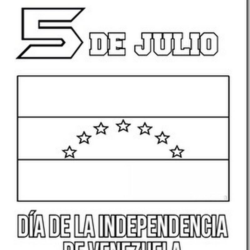 Venezuela día de la independencia colorear