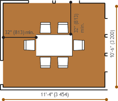 Minimal Dining Room: Rectangular Table