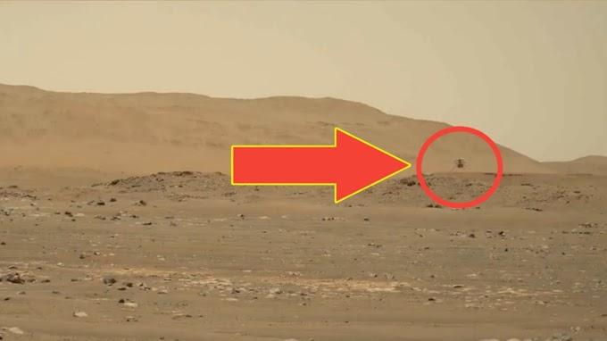 नासा ला मंगळावर आढळले हेलिकॉप्टर ! पहा विडिओ