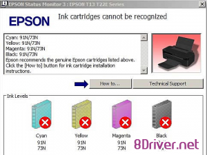 Download Epson Cartridges are not recognised