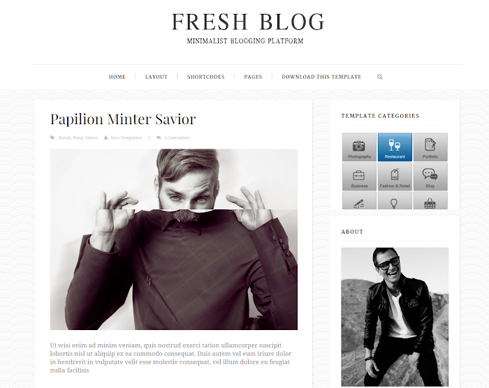 Fresh Blog Blogger Template Preview