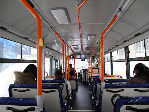 沿岸バス「豊富留萌線」 1401 車内