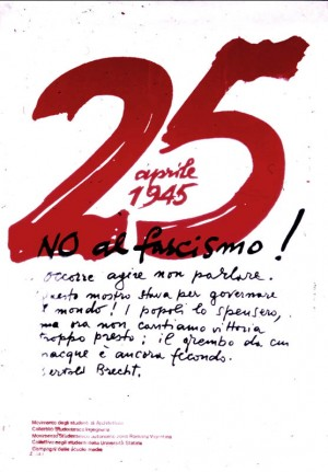 manifesto partigiano - no al fascismo - Bertolt Brecht