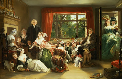 Daniel Maclise - Hunt the Slipper at Neighbour Flamboroughs