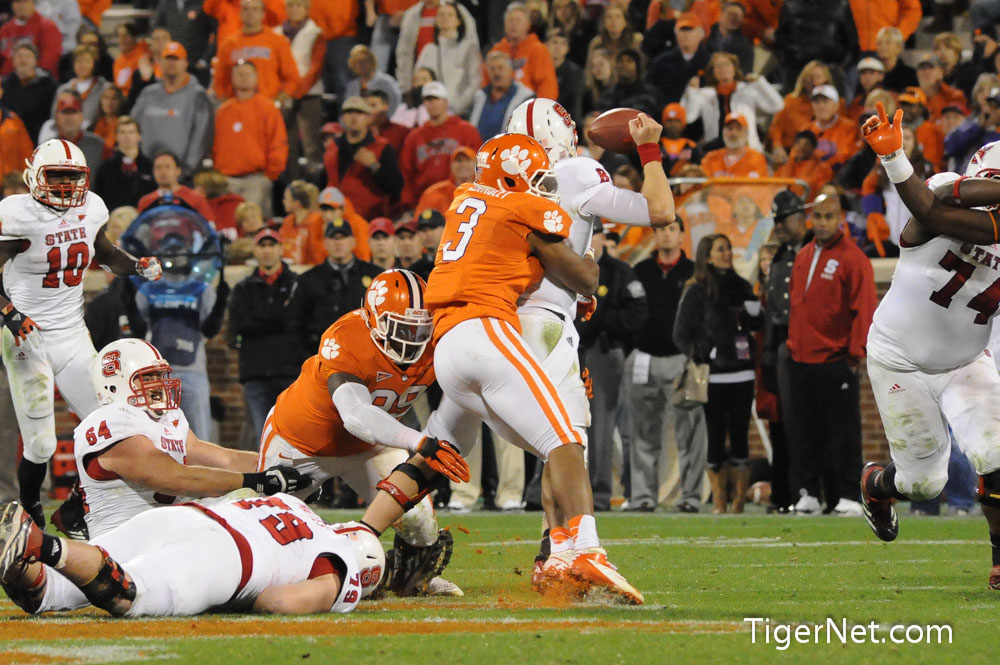 Clemson vs. NC State Photos - 2012, Football, NC State, Vic Beasley