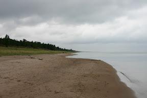 The beach and Lake Huron