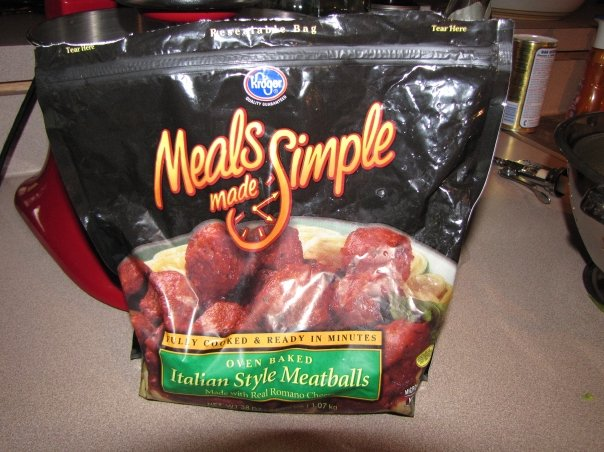 Bag of Frozen Meatballs